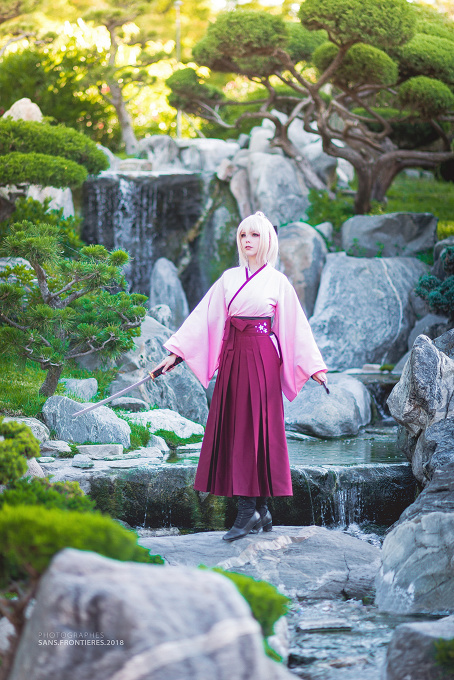 Okita Souji (Fate Grand Order) Cosplay by Calssara