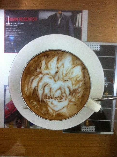 DRAGON BALL Latte art! (1/8)