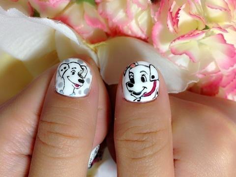 Nail art 101 dalmatians