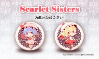 Scarlet Sisters - button set