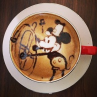 latte art~mickey~