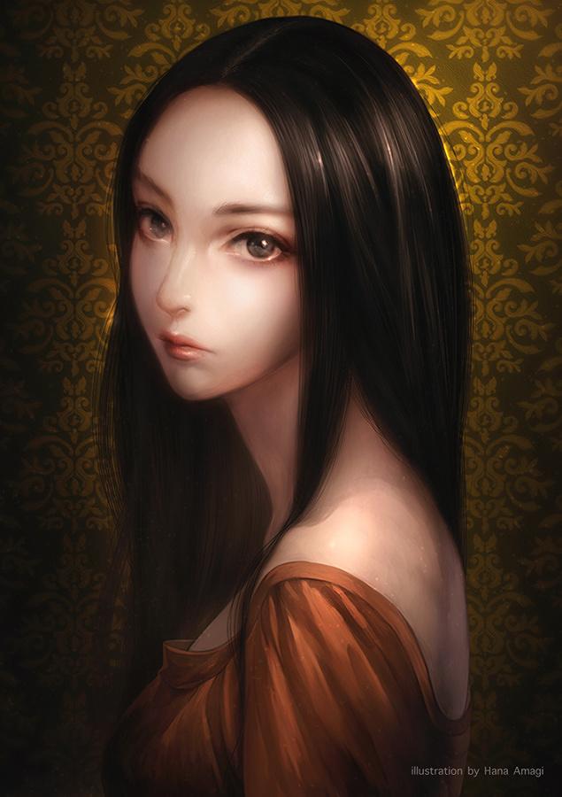 Dark haired anime girls