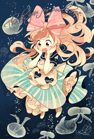 Jellyfish & girl