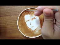 "Today's Leisure Time Cappuccino, ""Captain Levi @Attack on Titan"""