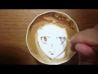 "Today's Leisure Time Cappuccino, ""Akane Tsunemori @Psycho-Pass"""