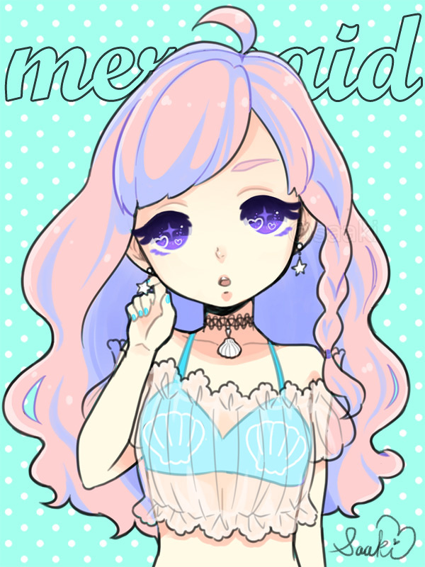 Pastel Goth Mermaid
