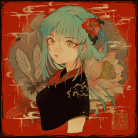 Blue-Haired Girl