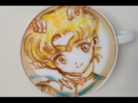 Latte Art of Sailor Moon