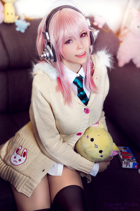 Sonico (Super Sonico) Cosplay by Calssara